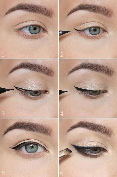 How to perfect winged eyeliner? Easy tips for winged eyeliner look!,ЛАНА