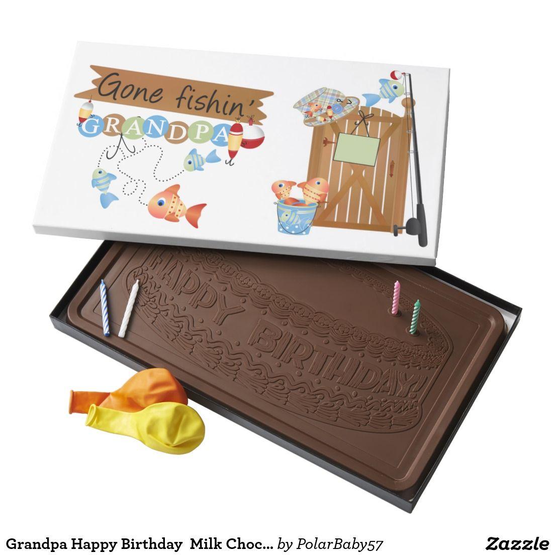 Grandpa happy birthday milk chocolate pound bar pound milk