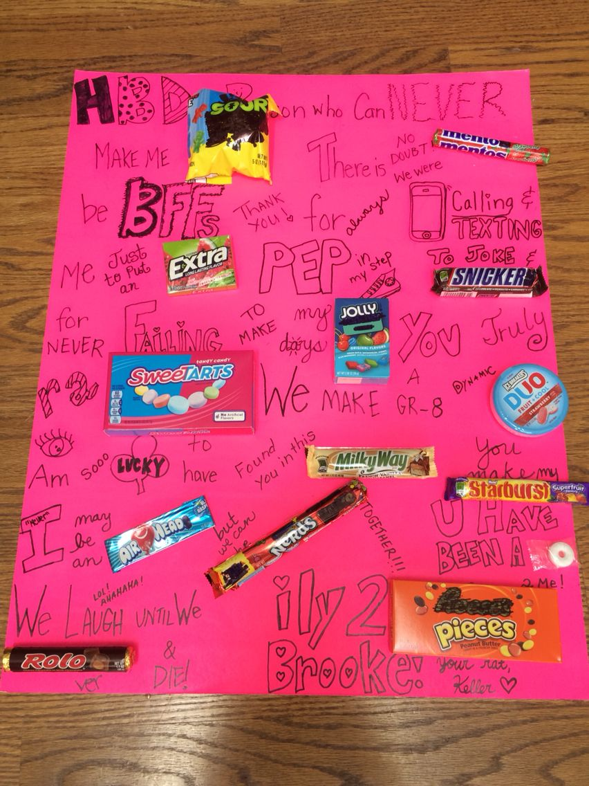 Birthday candy sign to describe your best friend
