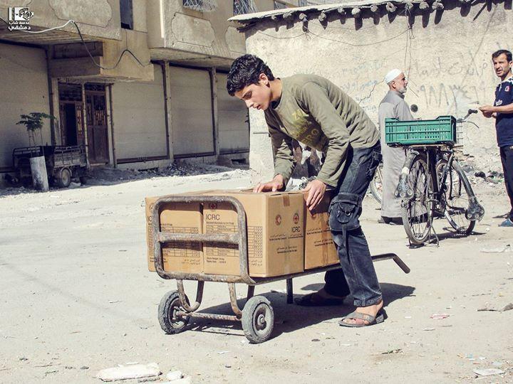 يأتي رمضان رابع على بلدات جنوب دمشق وهي محاصرة معتمدة على مساعدات بسيطة أدخلت بمساعدة الهلال الأحمر جنوب دمشق في 1 6 2016 South Of Damascus On 1 6 2016 This I