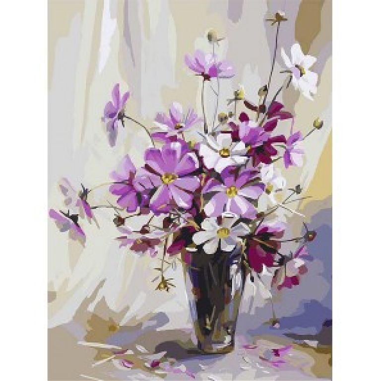 цветы по номерам - Поиск в Google | Цветочные картины ...