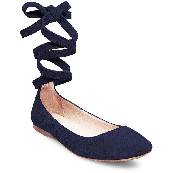 Lace up the elegant wrapping ankle tie design of Steve Madden's Bloome flats  to add a touch of delicate femininity to skirts and dresses.