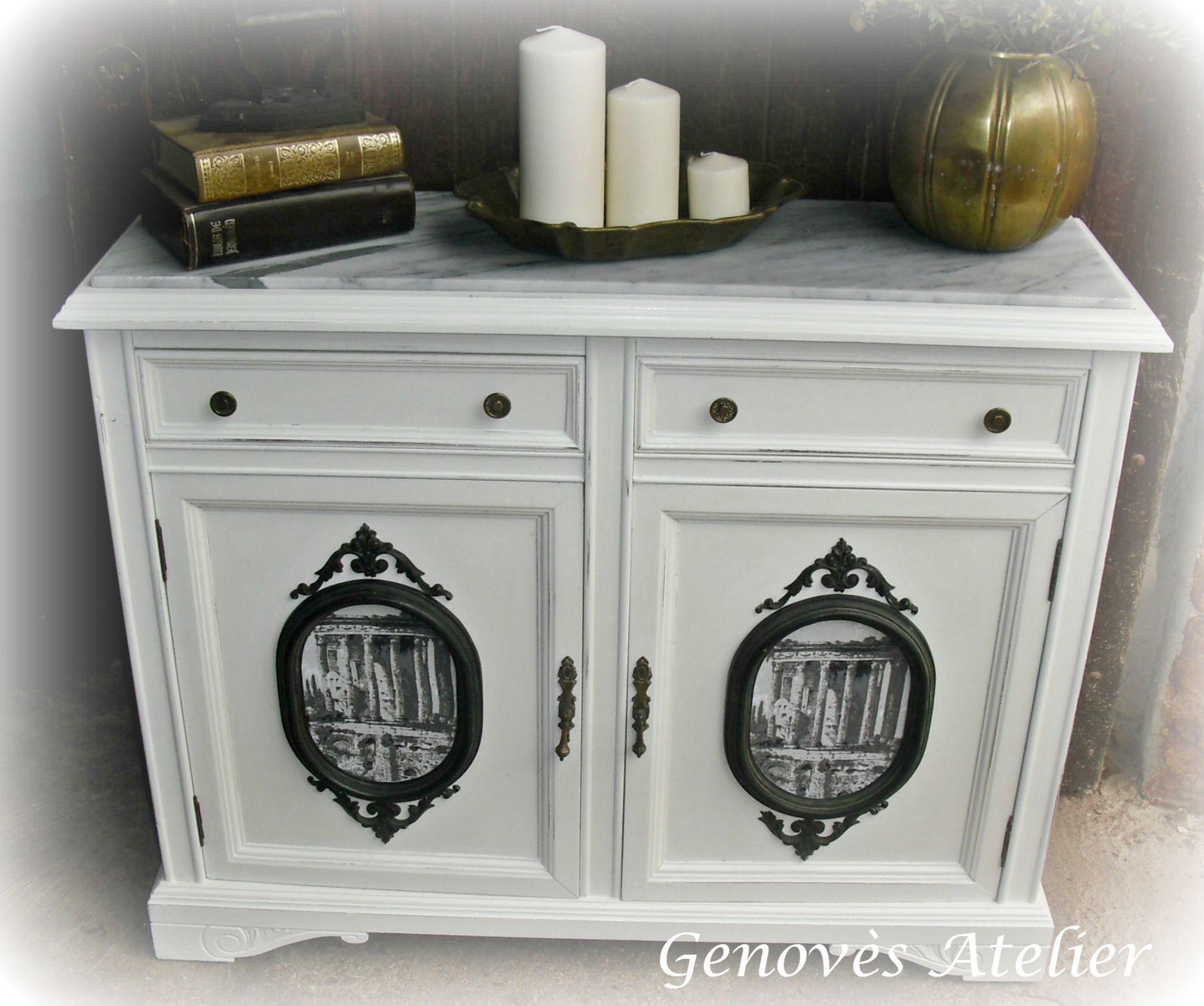 Taquill N De Madera Reci N Restaurado Tipo Vintage Sobre De  # Muebles Restaurados Baratos