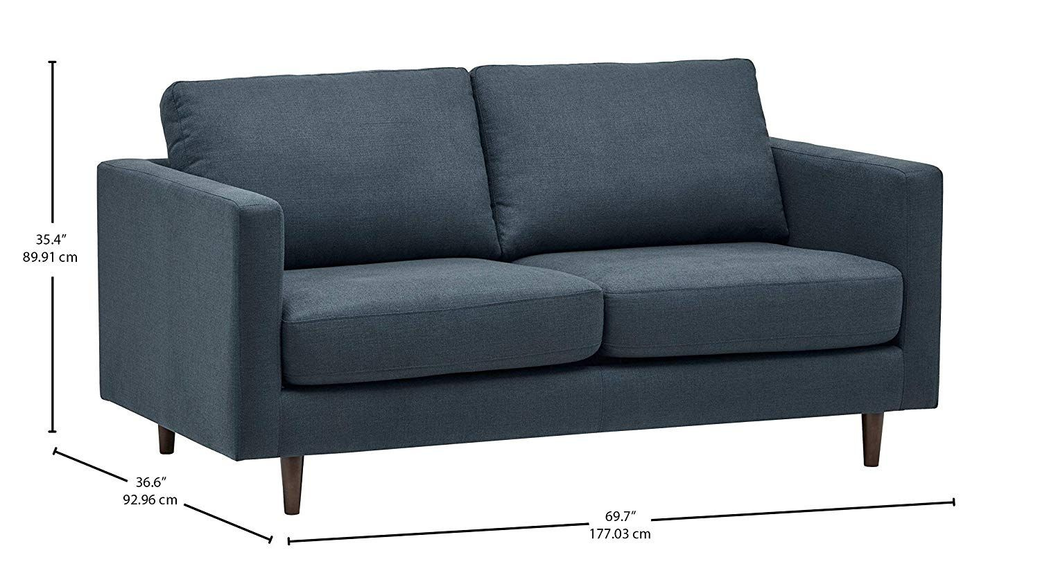 Amazon Com Rivet Revolve Modern Sofa Bed 70 W Grey Weave