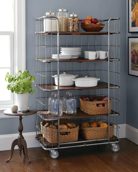 Rolling Shelves For Pantry Lockable Wheels Apartment Kitchen Small Apartment Organization Kitchen Decor