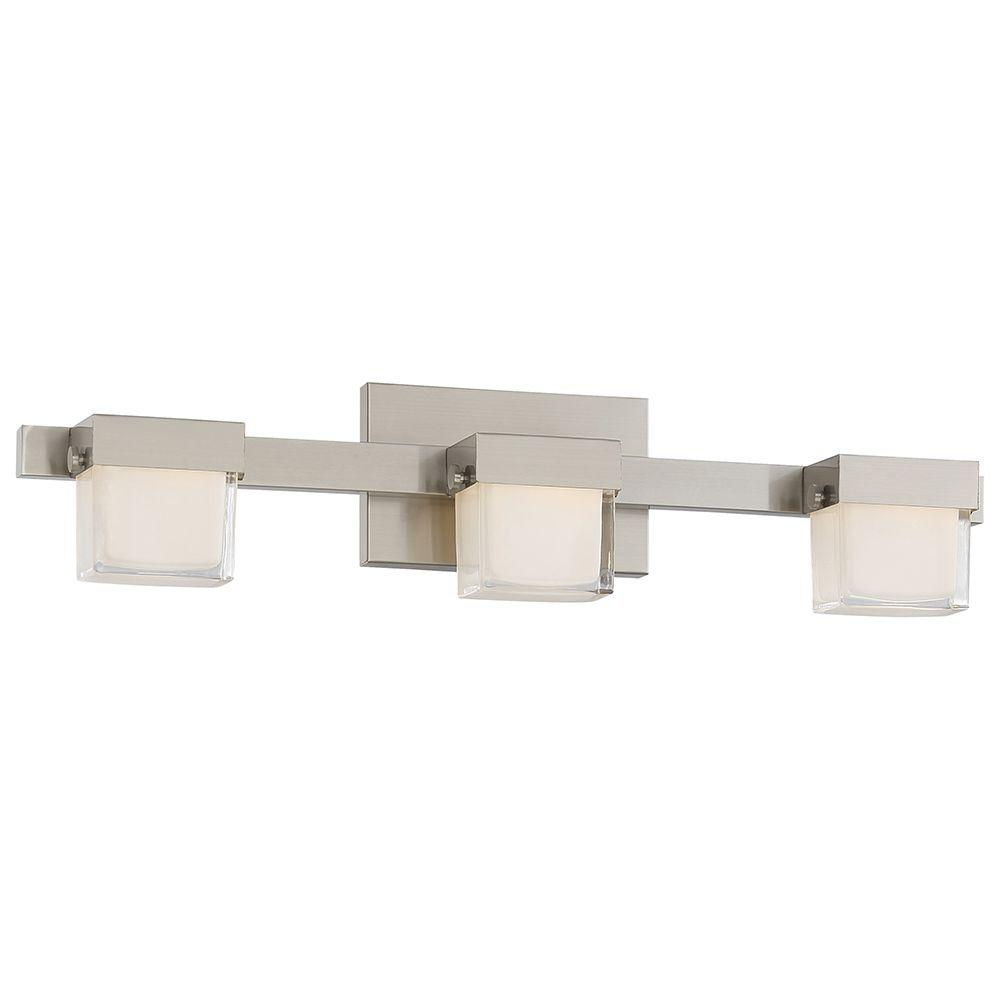 Good Lumens By Madison Avenue 3 Light Brushed Nickel Led
