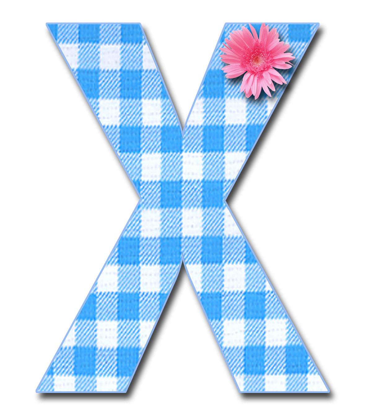 Blue Gingham X Png Png 1 200 1 321 Pixels Alphabet Cute Alphabet Scrapbook