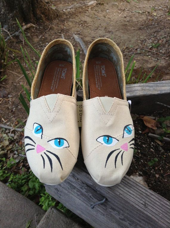 f2645d165 Hand Painted Cat Toms Painted Sneakers