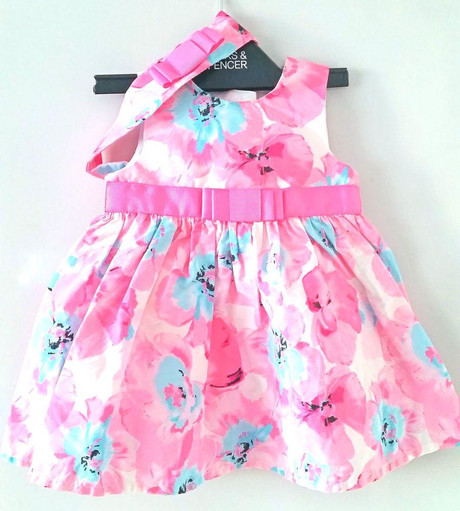 Baby girls dresses 0 3 months summer dress Pink Mint with Headband ...