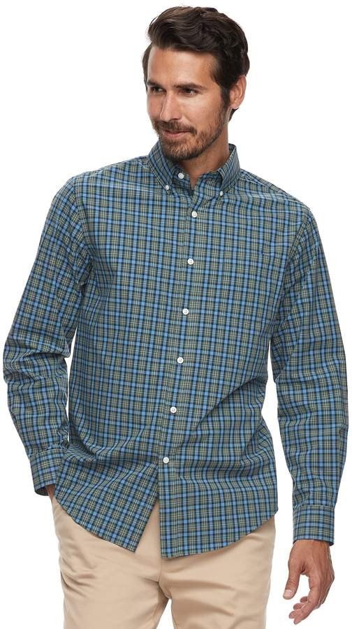 32d8c142713d Croft   Barrow Men s Classic-Fit Plaid Easy-Care Button-Down Shirt ...