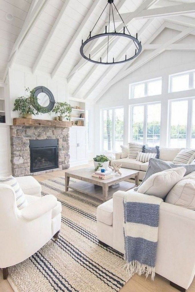 56 gorgeous farmhouse living room design decor ideas home 44 images