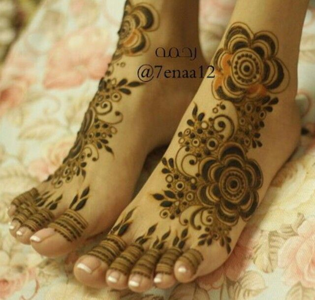 نقش حنا Foot Henna Mehndi Designs Feet Leg Henna