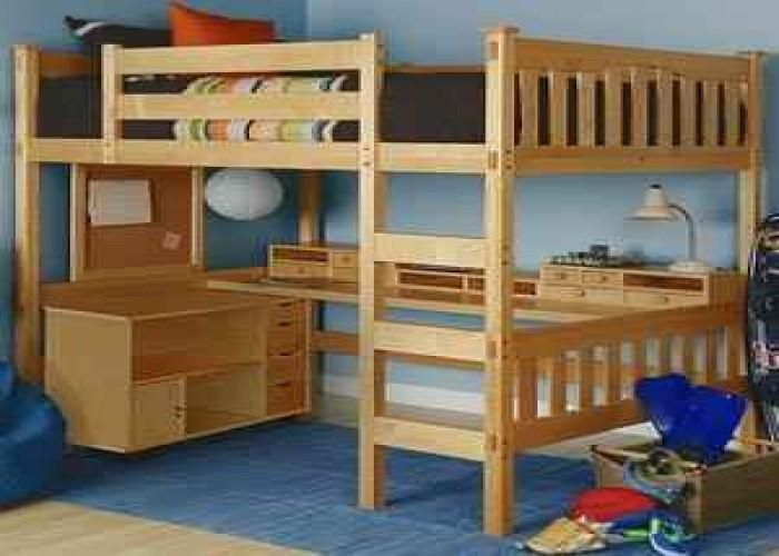 Amazing Loft Bed Stairs 2 Full Size Bed With Desk Underneath