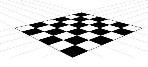 Draw A Checkerboard In 2 Point Perspective Art Lesson Art Lessons Room Perspective Drawing Perspective Art
