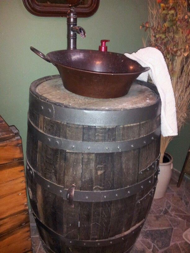 whiskey barrel sink i did it ok we did it
