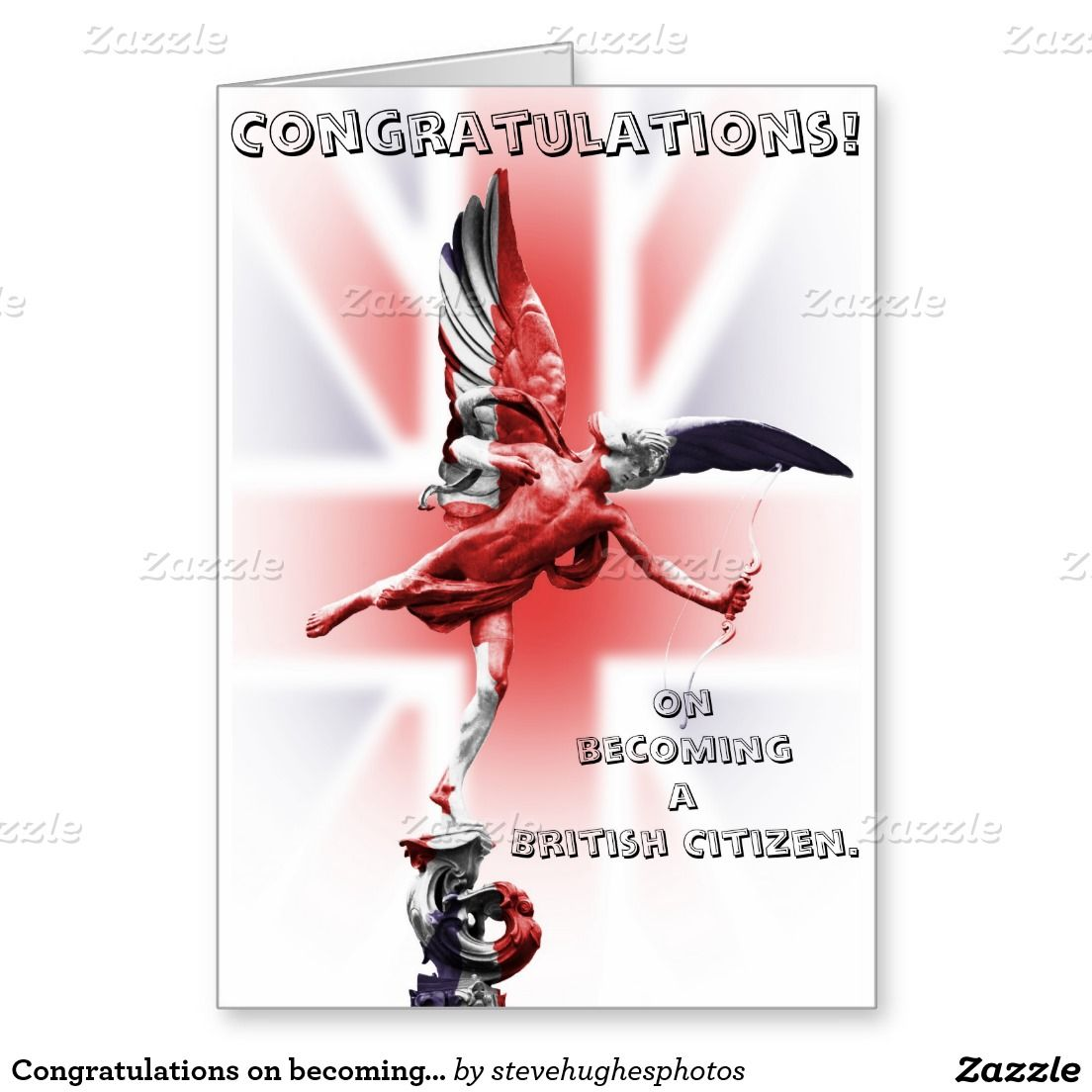 Congratulations On Becoming A British Citizen Greeting Card Cards How To Become Congratulations