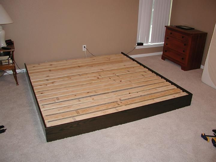How To Make Bed Frame How To Build A Cheap Platform Bed Frame My