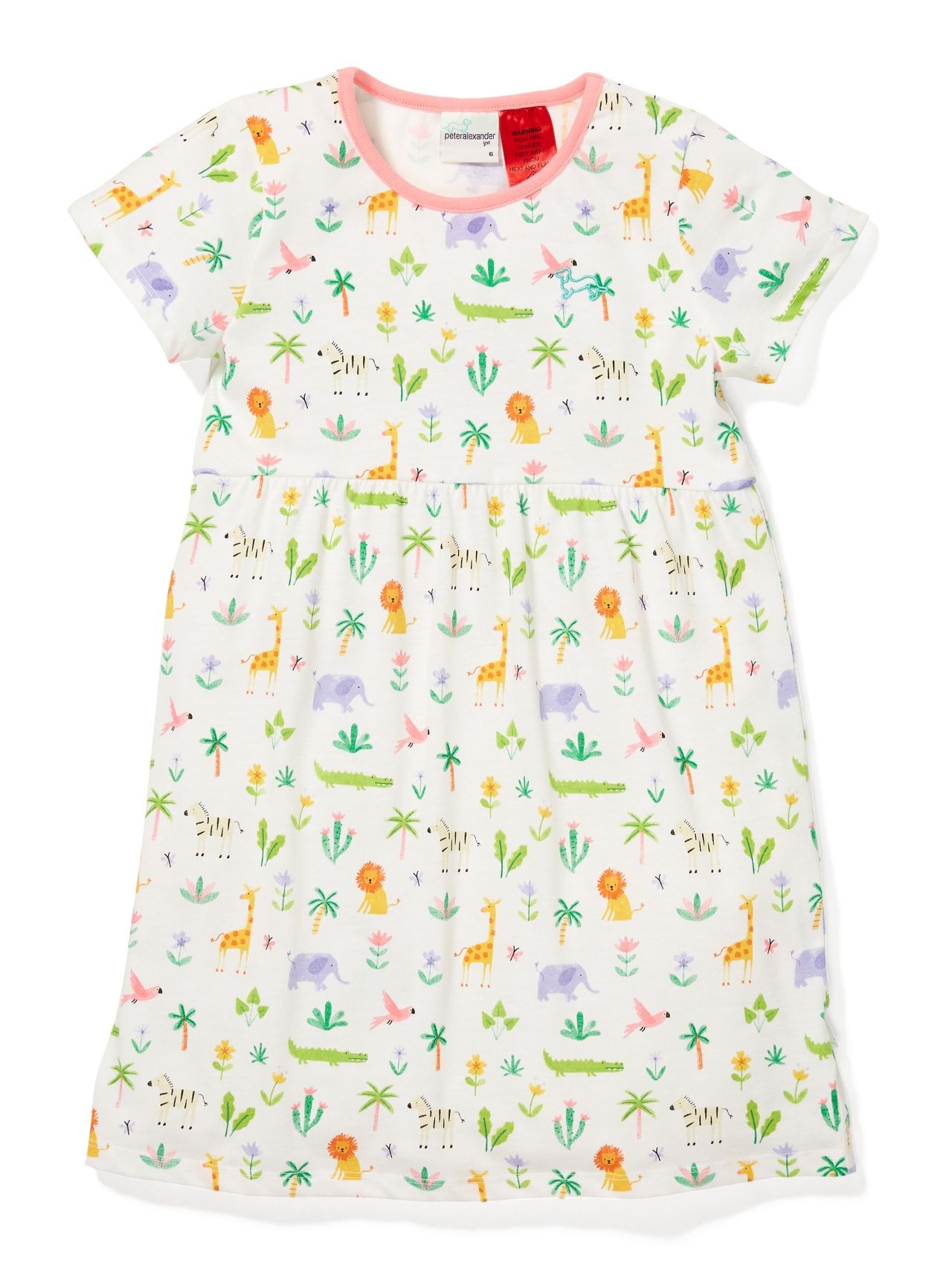 Jnr Girls Jungle Nightie Cream Peter Alexander Online