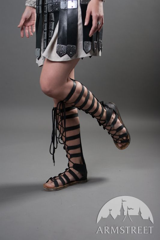high leather sandals