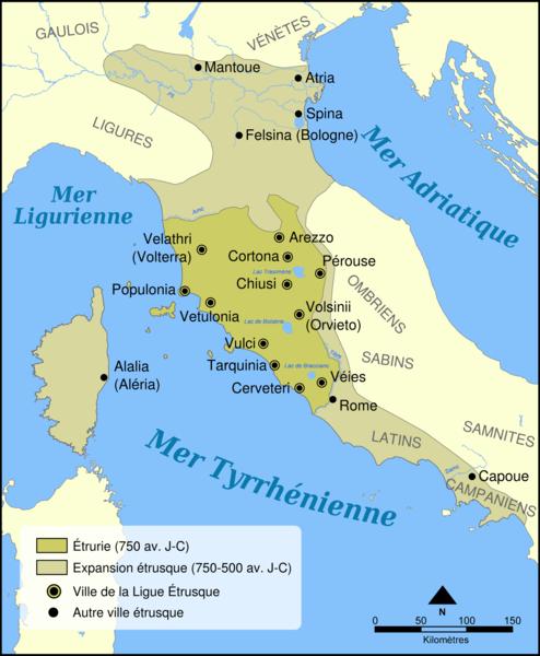 L Etrurie Drevnij Rim Istoriya Iskusstva Karta