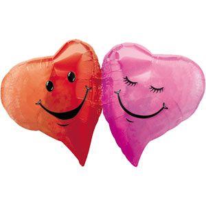 Double Hearts Mini Shape Balloon (1 ct)