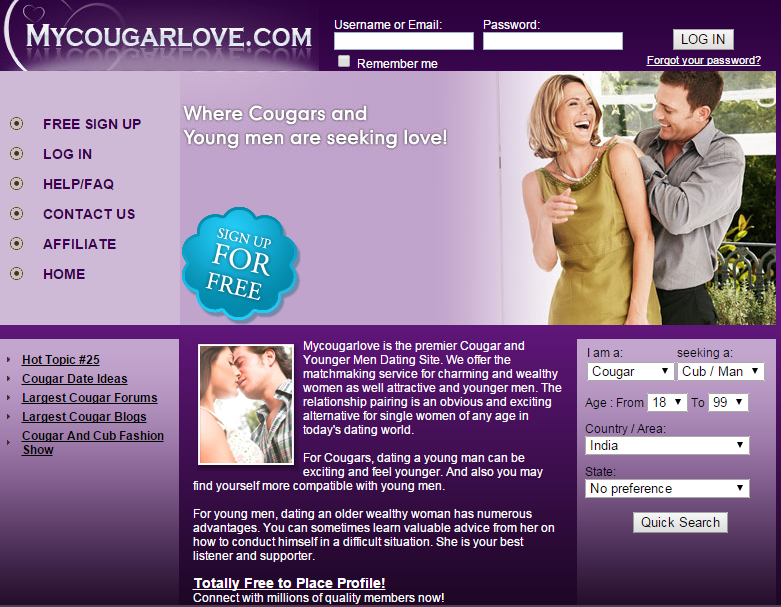 Best dating website to find cougars