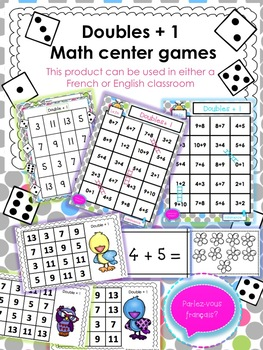 Doubles Plus One Math Center Games (With images) | Math ...