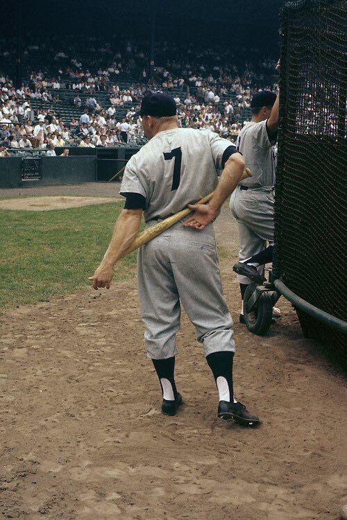 The Mick Yankees Baseball Baseball Photography Mickey Mantle