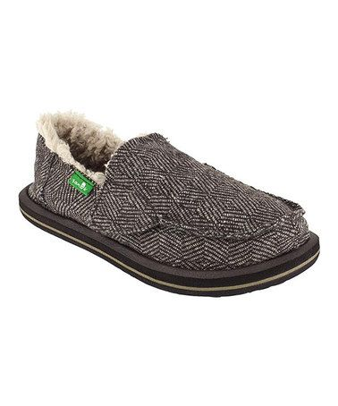 Take a look at this Brown Checkabone Chill Slip-On Shoe - Kids by Sanuk on #zulily today!