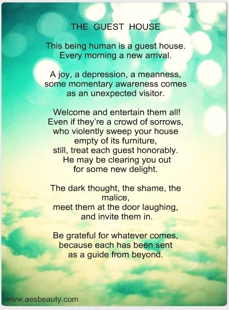 The Guest House Rumi Rumi Love Quotes Therapy Quotes Inspirational Posters