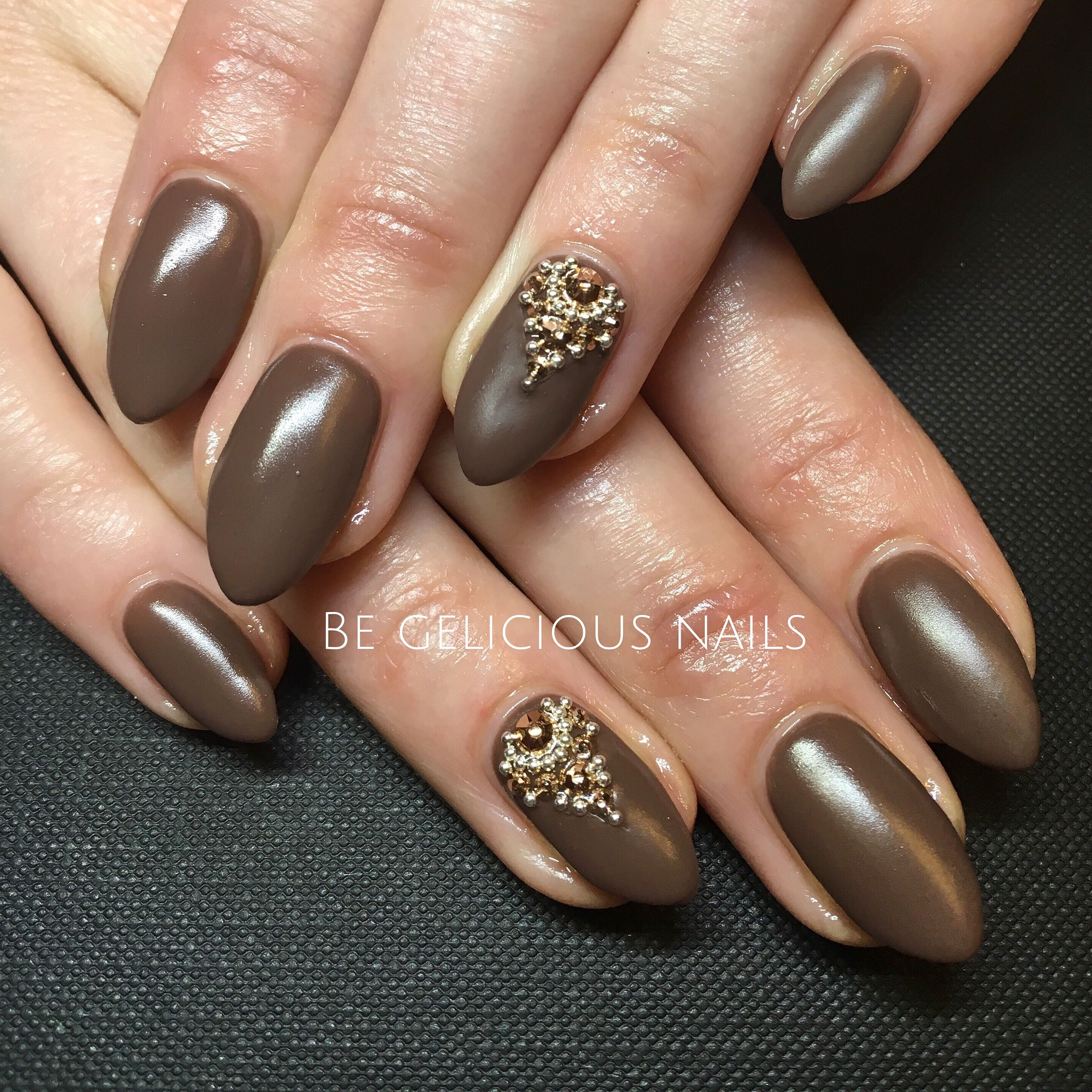 Calgel nails gel nail art nail design brown matte swarovski calgel nails gel nail art nail design brown matte swarovski prinsesfo Gallery