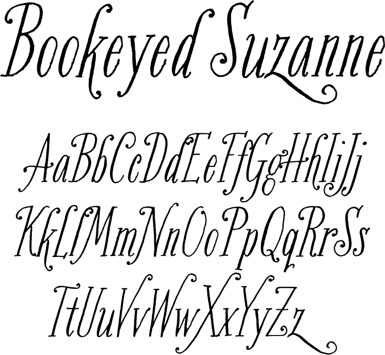 Bookeyed Suzanne, many fonts are being designed from hand lettering and calligraphy