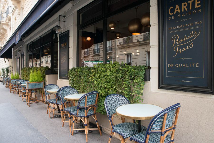 Terrasse extérieur du restaurant le marloe de paris