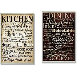 Charmant U0027Dining Wordsu0027 And U0027Kitchen Wordsu0027 Kitchen Wall Plaques ...