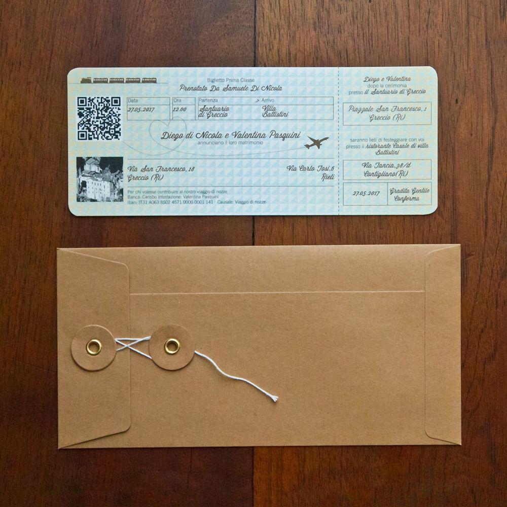 Partecipazione Di Nozze Biglietto Del Treno Mod 1 Partecipazioni Nozze Inviti Per Matrimonio Auguri Di Nozze