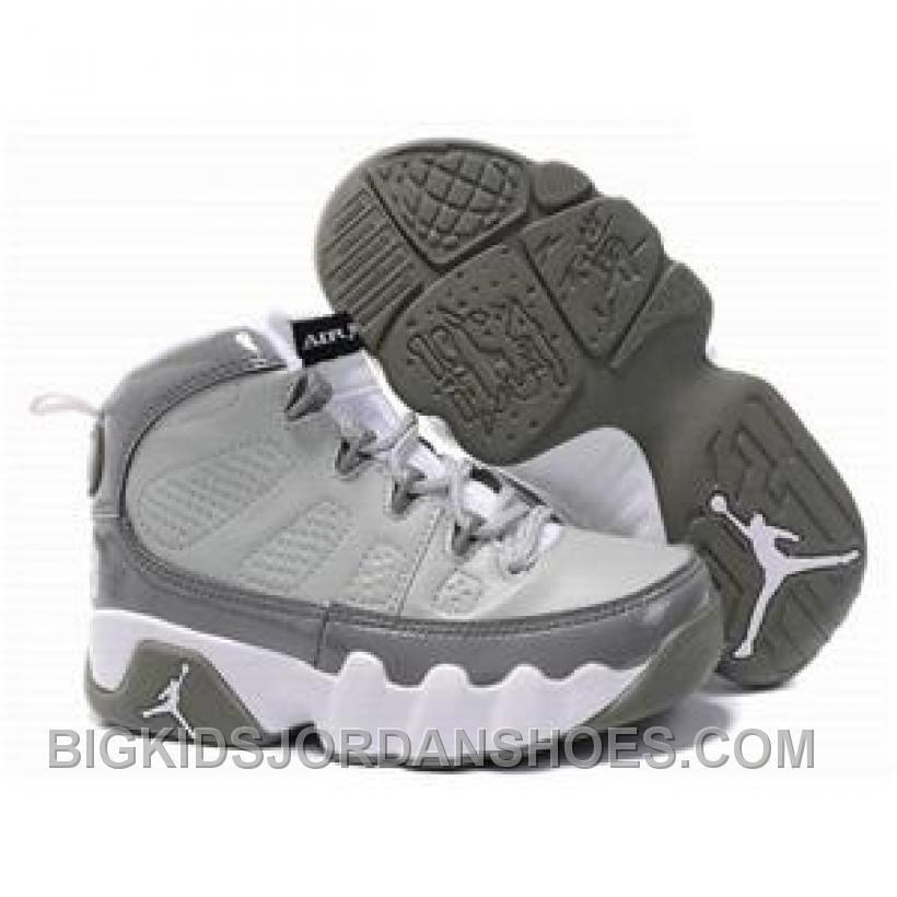 9ad320994bdce3 Air Jordan 9 Medium Grey Cool Grey-White For Sale