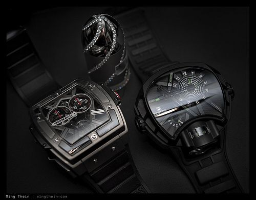 Unique all black watches