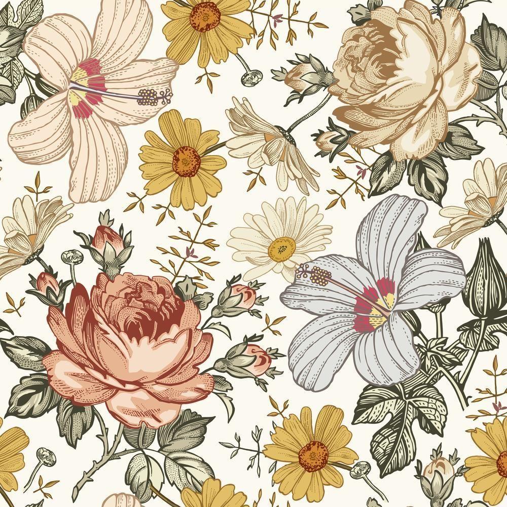 Mila Wallpaper In 2020 Vintage Wallpaper Patterns Floral Wallpaper Pattern Wallpaper