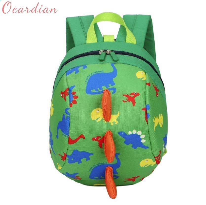 Unsex Cute Toddler Kids Baby Mini Backpack Cartoon Dinosaur School Bag Rein