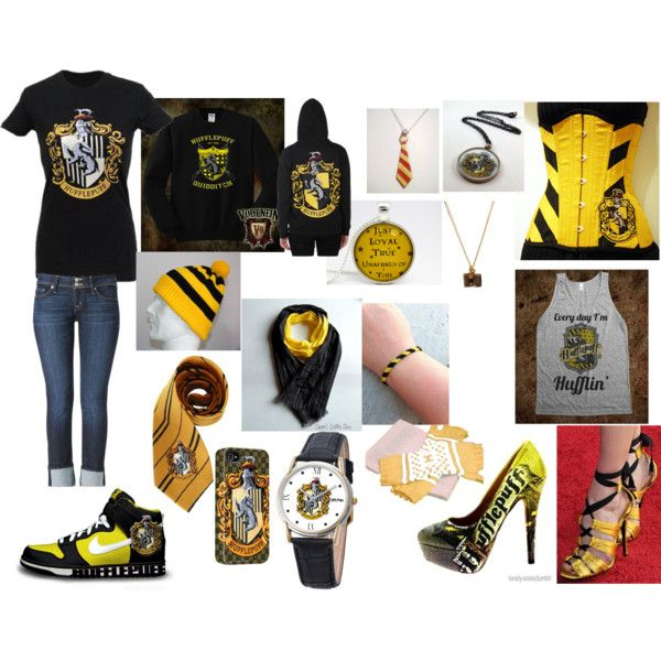 """For sam again"" by kay-wulf on Polyvore Hufflepuff"