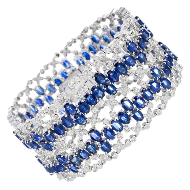 Spectacular Sapphire and Diamond Bracelet