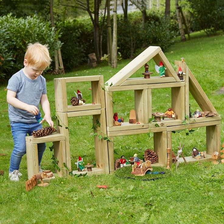 Photo of Outdoor Small World Wooden Building Blocks