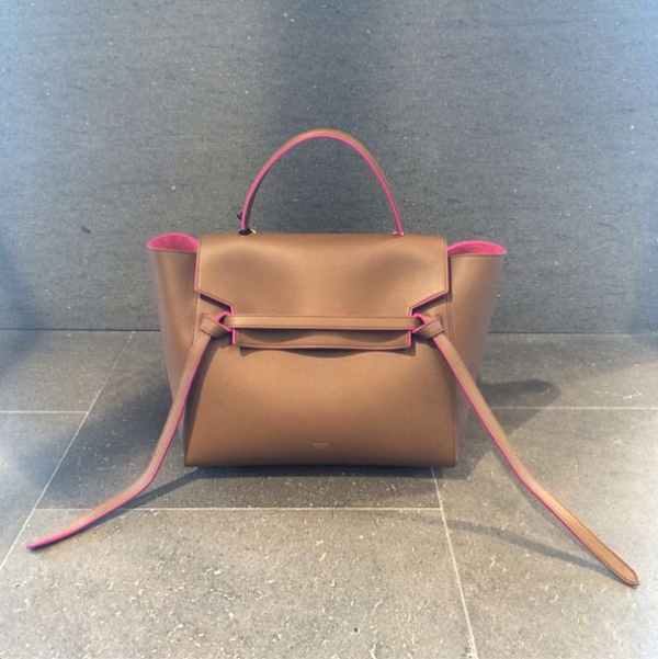 cf1470d1c2 Celine Camel with Pink Lining Mini Belt Bag may have to hunt this down!
