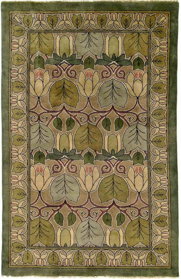 Arts U0026 Crafts Rug Web GuildCraft Magnolia Fall