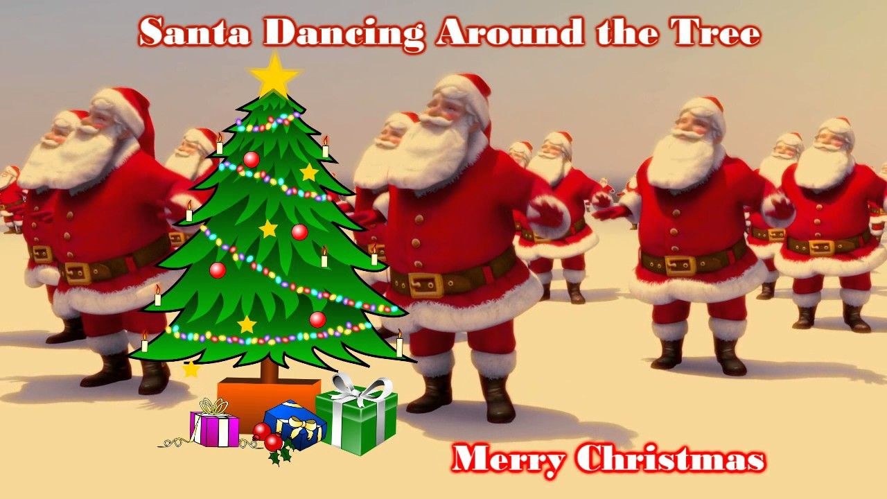 Santa Claus Dancing Rockin Around The Christmas Tree Brenda Lee 1958 Feliz Navidad Navidad Feliz