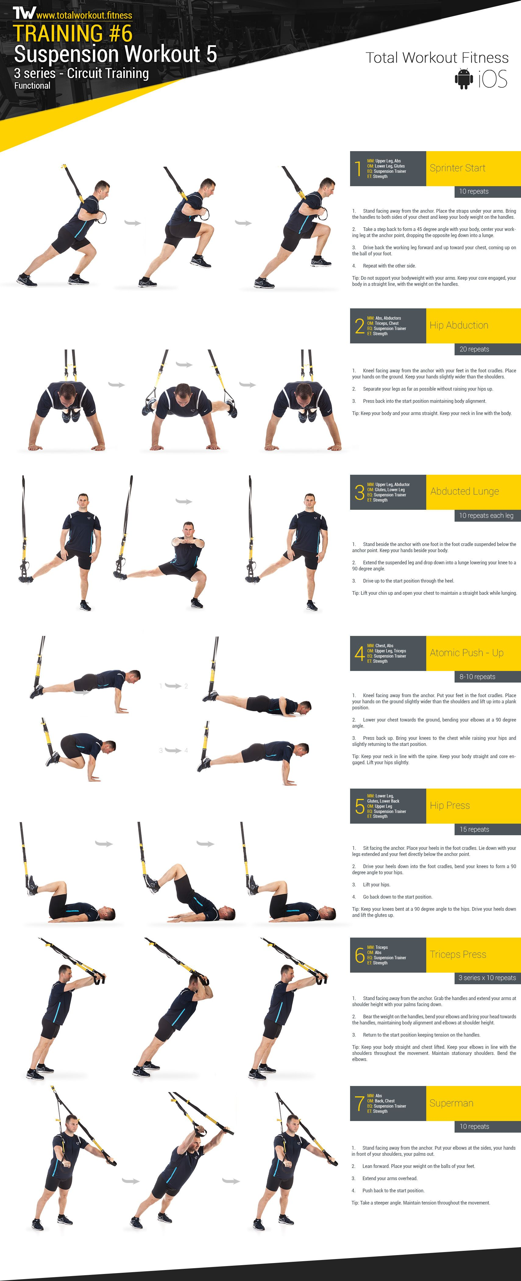 Training 6 Suspension Workout 5 Total Workout Fitness Trx Ejercicios Rutinas De Entrenamiento Ejercicios Musculacion
