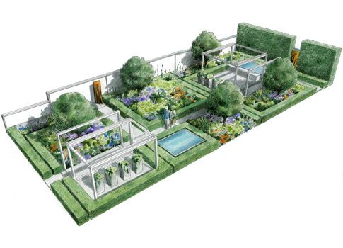 Intensive Residential Green Roof Green Roof Green Roof Residential Roof Garden Plan
