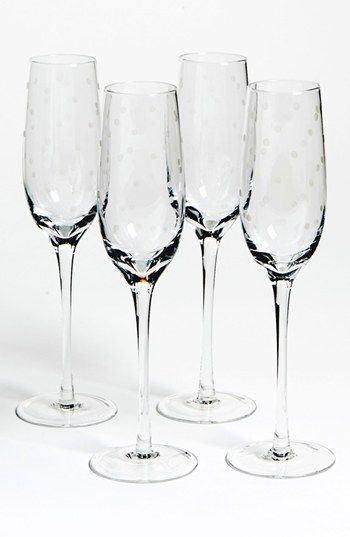 afae6a6d05a kate spade new york 'larabee dot' champagne flutes (set of 4 ...