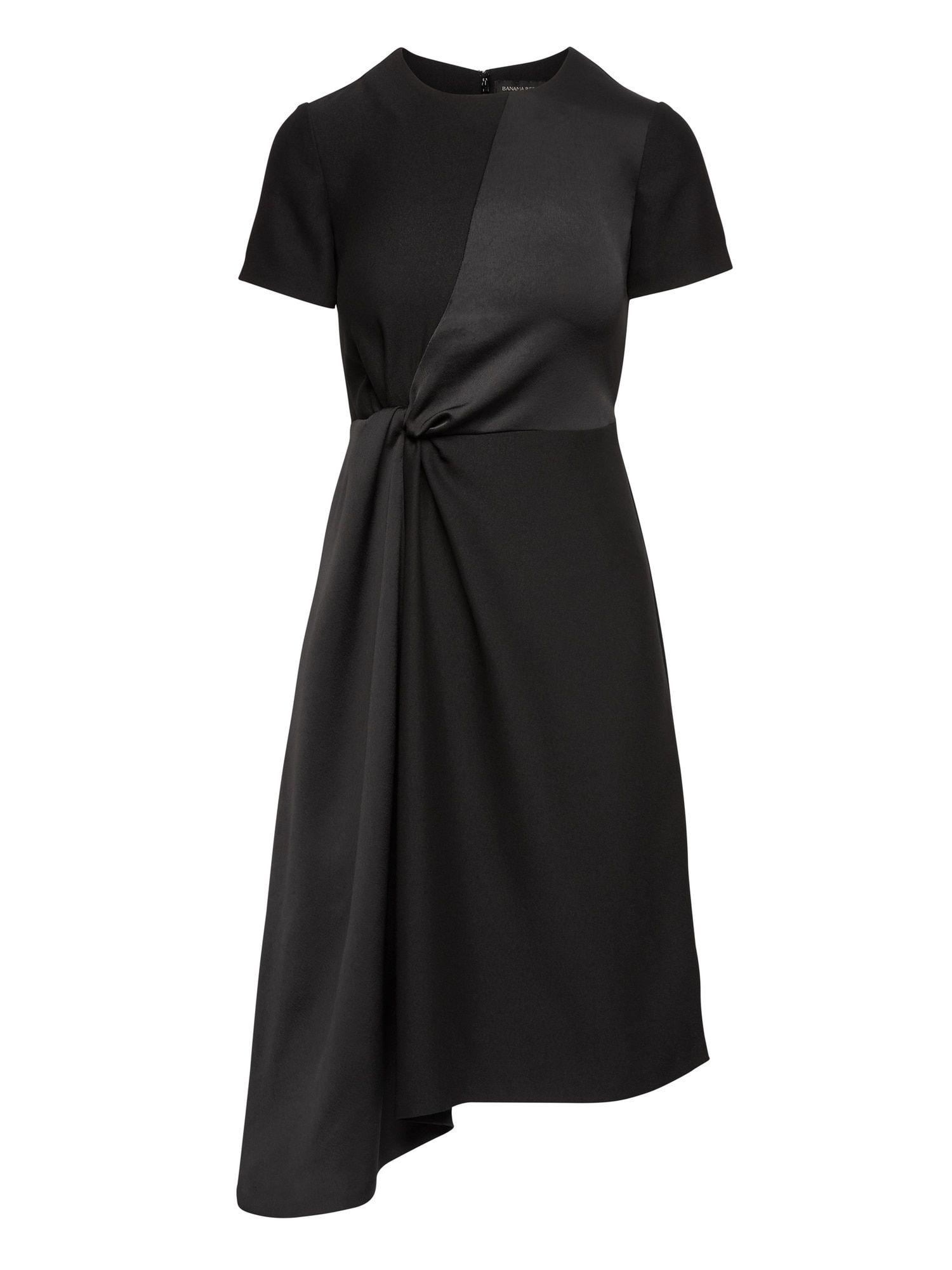2f3b2e7ec0 Mixed-Media Fit-And-Flare Dress