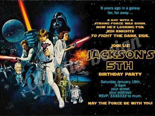 classic star wars birthday invitations Star Wars Party Pinterest - birthday invitation wording for movie party